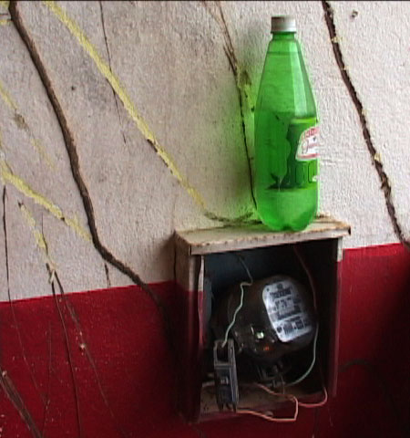 In North of Brazil some will believe that putting a bottle of water on the top of a electricity clock will drop